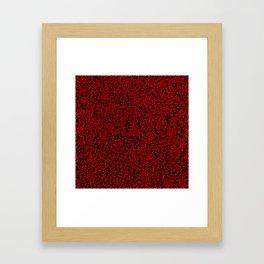 thought 2, red on black Framed Art Print
