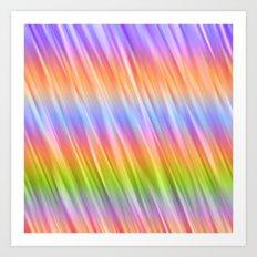 Rainbow Blur Art Print