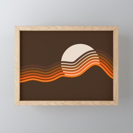 Sundown Stripes Framed Mini Art Print