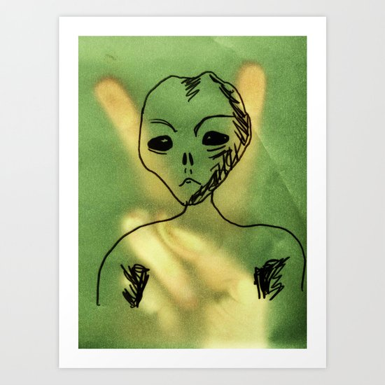 We Come In Peace. Art Print