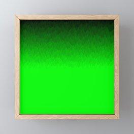 Black to green ombre flame Framed Mini Art Print