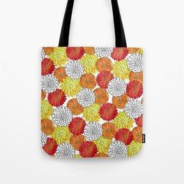 Dahlia Garden Summer Tote Bag