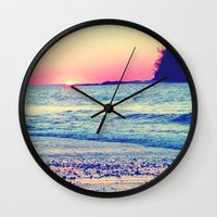 the cure Wall Clocks featuring Cure All  by Endless Summer