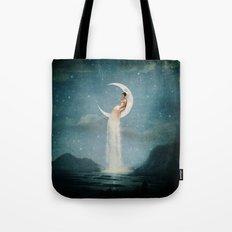 Moon River Lady Tote Bag