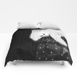 Cats_white cat Comforters