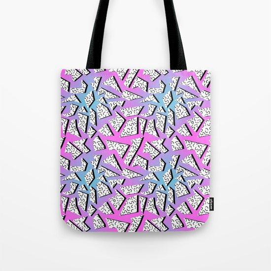Gnarly - retro memphis throwback pattern print 1980s 80's style minimal modern pop art neon hipster Tote Bag