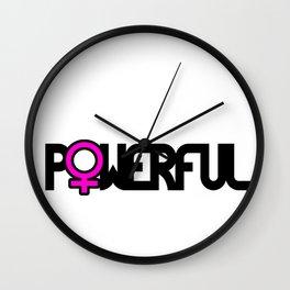 Powerful Strong Woman Wall Clock