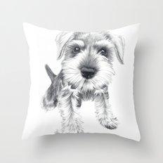 Schnozz the Schnauzer Throw Pillow