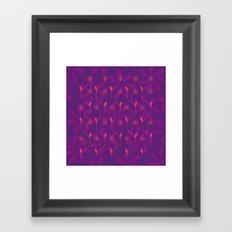 Flowerline – violet Framed Art Print