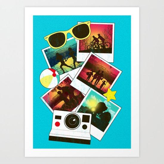 Summer Snapshots Art Print