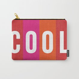 Cool Type on Warm Colors Carry-All Pouch