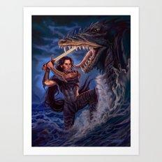 Death of a Sea Dragon Art Print