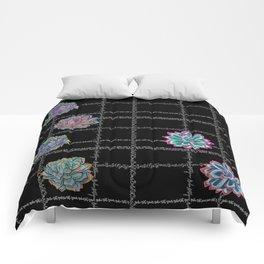'Not Your Babe' tartan succulent print Comforters