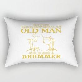 Old Man - A Drummer Rectangular Pillow