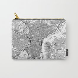Philadelphia White Map Carry-All Pouch