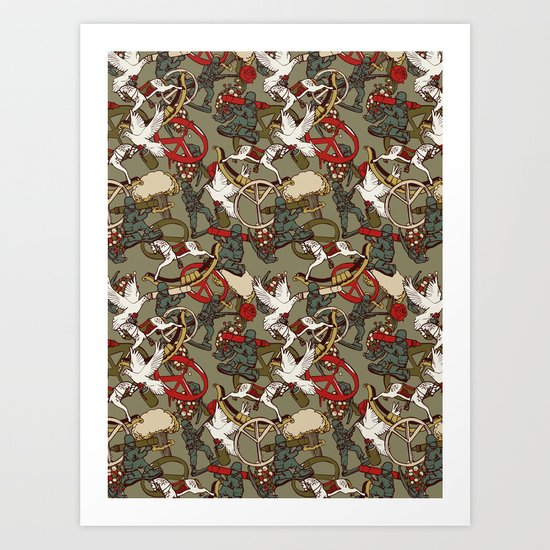 Warpaint & Peace Art Print