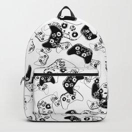 Video Game Black on White Backpack