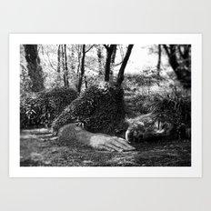 Heligan giant in monochrome Art Print