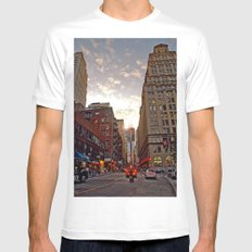 Up From Below MEDIUM White Mens Fitted Tee