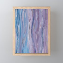 Touching Purple Blue Watercolor Abstract #2 #painting #decor #art #society6 Framed Mini Art Print