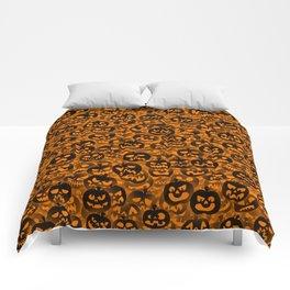 Scary pumpkins Comforters