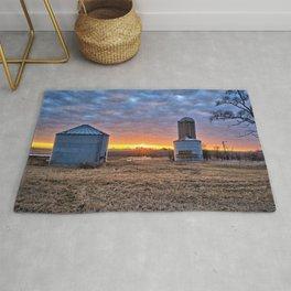 Grain Bin Sunset Rug
