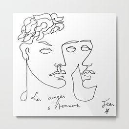 Jean Cocteau Homme  Metal Print