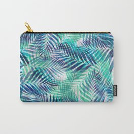 Palm Leaves - Indigo Green Carry-All Pouch