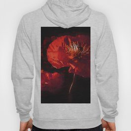Two Deep Red Poppies Hoody