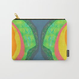Shapes and Layers no.25 - Abstract painting Blue, Green, pink, yellow orange Carry-All Pouch