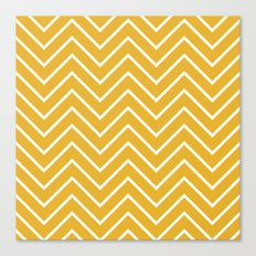 Gold Chevron Canvas Print