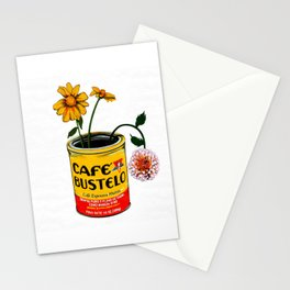 Coffee and Flowers for Breakfast Stationery Cards
