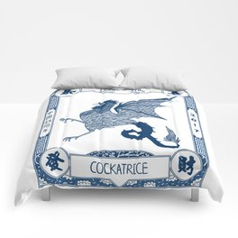 Year of the Cockatrice (Porcelain) Comforters