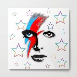Bowie's Eyes Metal Print