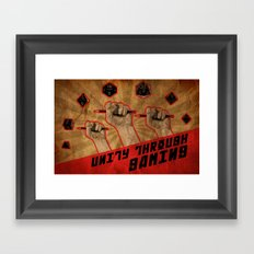 Unity Through Gaming! Framed Art Print