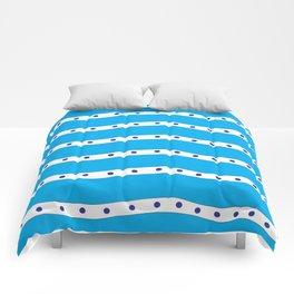 Coastal Pattern Blue Ocean Comforters