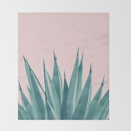 Blush Agave Dream #1 #tropical #decor #art #society6 Throw Blanket