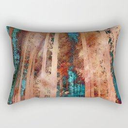 Rose Gold Woods Rectangular Pillow