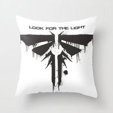 Fireflies Black Throw Pillow