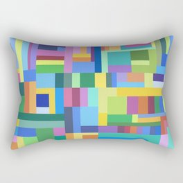 Color Burst Geometry Rectangular Pillow