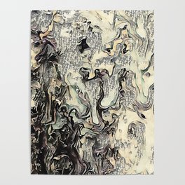 Texture Overlay Abstract Design Poster