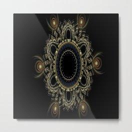 hole fractal mandala intricate Metal Print