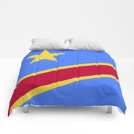 Democratic Republic of the Congo flag emblem Comforters