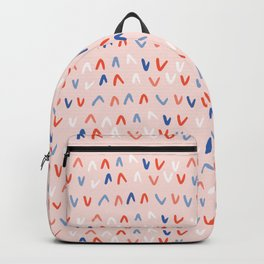 Memphis Style Tick Scribbles Seamless Pattern Backpack