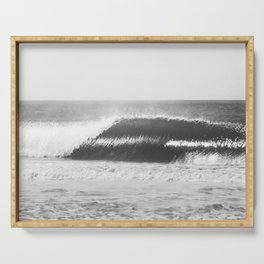Black and White Wave Serving Tray