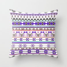Purple tradition Throw Pillow