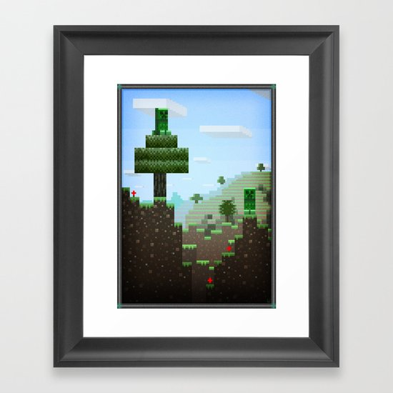 Pixel Art series 9 : Creep Framed Art Print