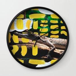 Painted Croc by Ezekiel Kitchen Wall Clock
