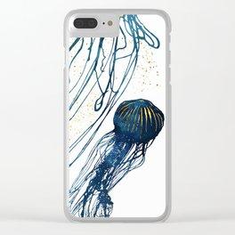 Metallic Jellyfish II Clear iPhone Case