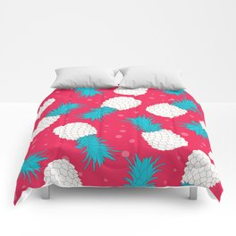 Pineapple color pattern Comforters